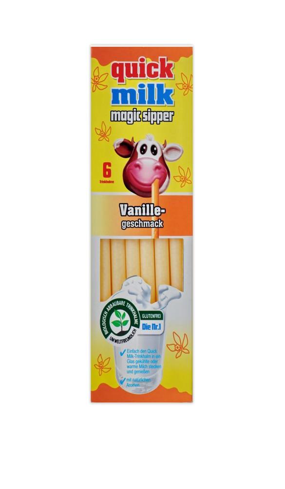 Quick Milk 6 Biodegradable Straws
